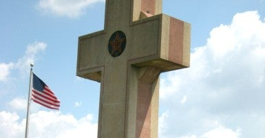 Bladensburg Peace Cross, located at west entrance to city on MD 450. (Photo: Ken Firestone / Flickr)