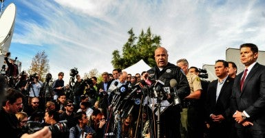 San Bernardino Police Chief Jarrod Burguan speaks during a press conference near the site of the massacre at Inland Regional Center in San Bernardino, Calif.. (Photo: Zhang Chaoqun Xinhua News Agency/Newscom)