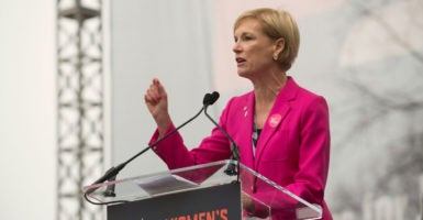 Cecile Richards, president of Planned Parenthood, speaks at the Women's March on Washington, Jan. 21, 2017. (Photo: Erin Scott/Polaris /Newscom)