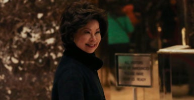 Adding to her already impressive résumé, Elaine Chao is picked to lead Donald Trump's ambitious infrastructure policy agenda. (Photo: Sipa USA/Newscom)