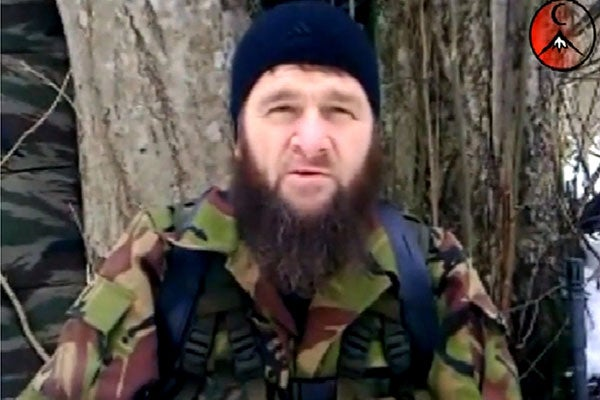 This undated screen grab taken from the website hunafa.com shows a man identified as Chechen Islamist rebel leader Doku Umarov. (Photo: AFP/Hunafa.com)