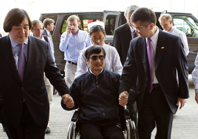 Chinese blind dissident leaves U.S embassy