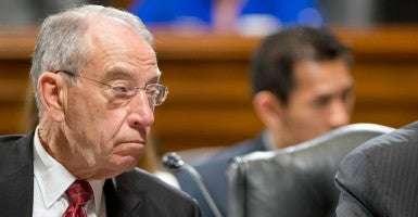 """Sen. Chuck Grassley is a sponsor of the """"Separation of Powers Restoration Act of 2016,"""" which would give more authority to courts, rather than administrative agencies, in interpreting statutes and regulations. (Photo: Ron Sachs/dpa/picture-alliance/Newscom)"""