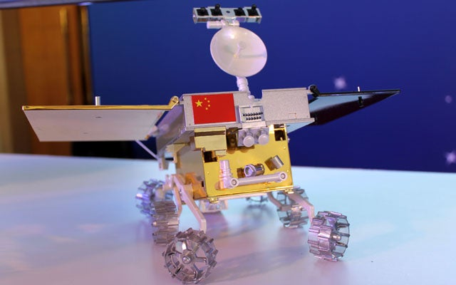 1: 8 Scale Model of Chang'e 3 Moon Rover (LIU HUAIYU/FEATURECHINA/Newscom)