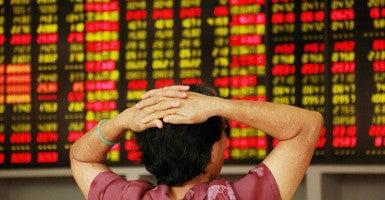 The Chinese stock market collapse is real. (Photo: Imaginechina/SplashNews/Newscom)