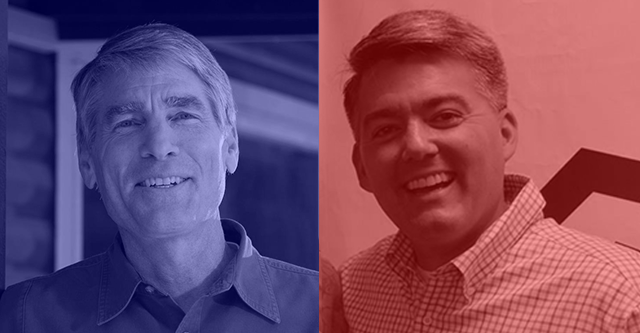 Photos: Mark Udall Campaign Facebook Page/Cory Gardner Campaign Facebook Page