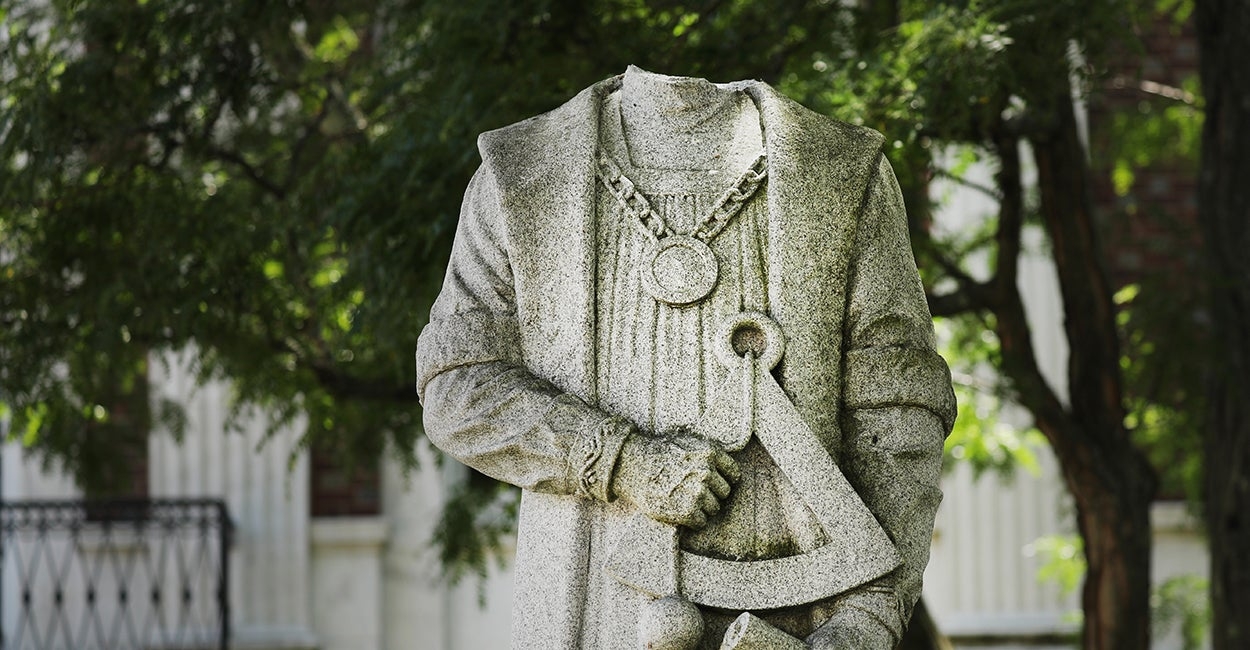 Dear Politicians: Please Stop Allowing Vandals to Deface Our Statues