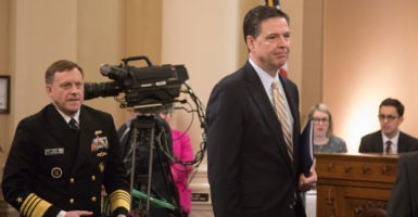 NSA Director Mike Rogers and FBI Director James Comey say the government's surveillance programs are important national security tools. (Photo: Jeff Malet Photography/Newscom)
