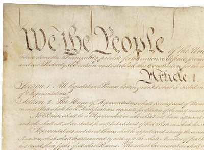 Newspaper article on constitution principles