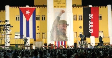 Raul Castro celebrating the 62nd anniversary of Cuban Revolution. (Photo: ARTURO TORAYA/NOTIMEX/Newscom)