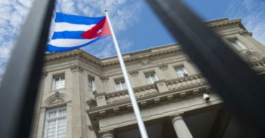 The Obama administration re-established diplomatic relations with Cuba after 54 years, leading to the reopening of the Cuban Embassy in Washington, D.C. (Photo: Kevin Dietsch/UPI/Newscom)