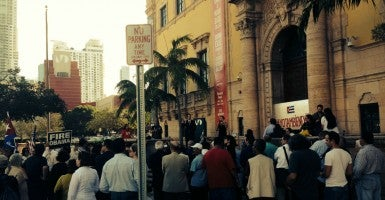 The rally in Miami, like its counterpart in Cuba, was intended to provide a forum for people to talk about the future of the island. (Courtesy photo)