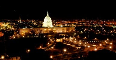 U.S. Capitol East Front at Night (Photo: US Capitol Flickr)
