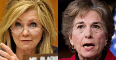 Reps. Marsha Blackburn, R-Tenn., and Jan Schakowsky, D-Ill., are two faces of the Select Investigative Panel on Infant Lives. Republicans on the panel issued an update accusing Democrats of stonewalling the investigation of the sale of body parts and other tissue from aborted babies. (Photos: Jay Mallin/ZumaPress/ Tom Williams/CQ Roll Call/Newscom)