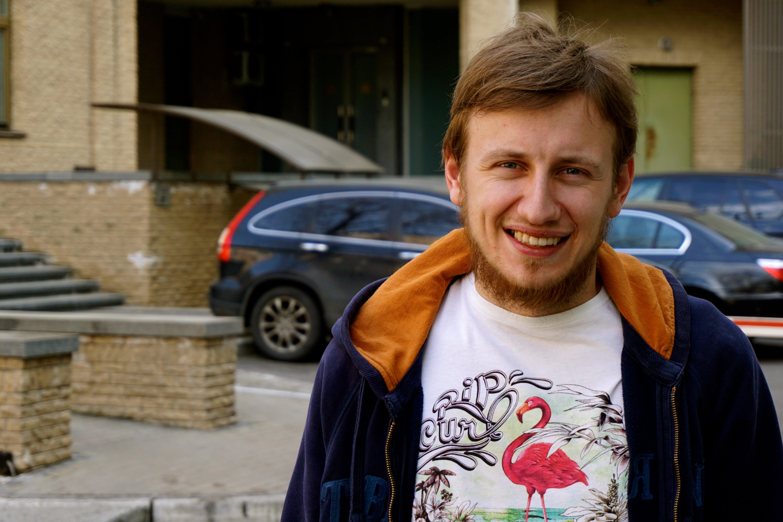 Bogdan Logvynenko, 27, a Ukrainian journalist and political activist says the Ukrainian revolution was a success. (Photos: Nolan Peterson/The Daily Signal)