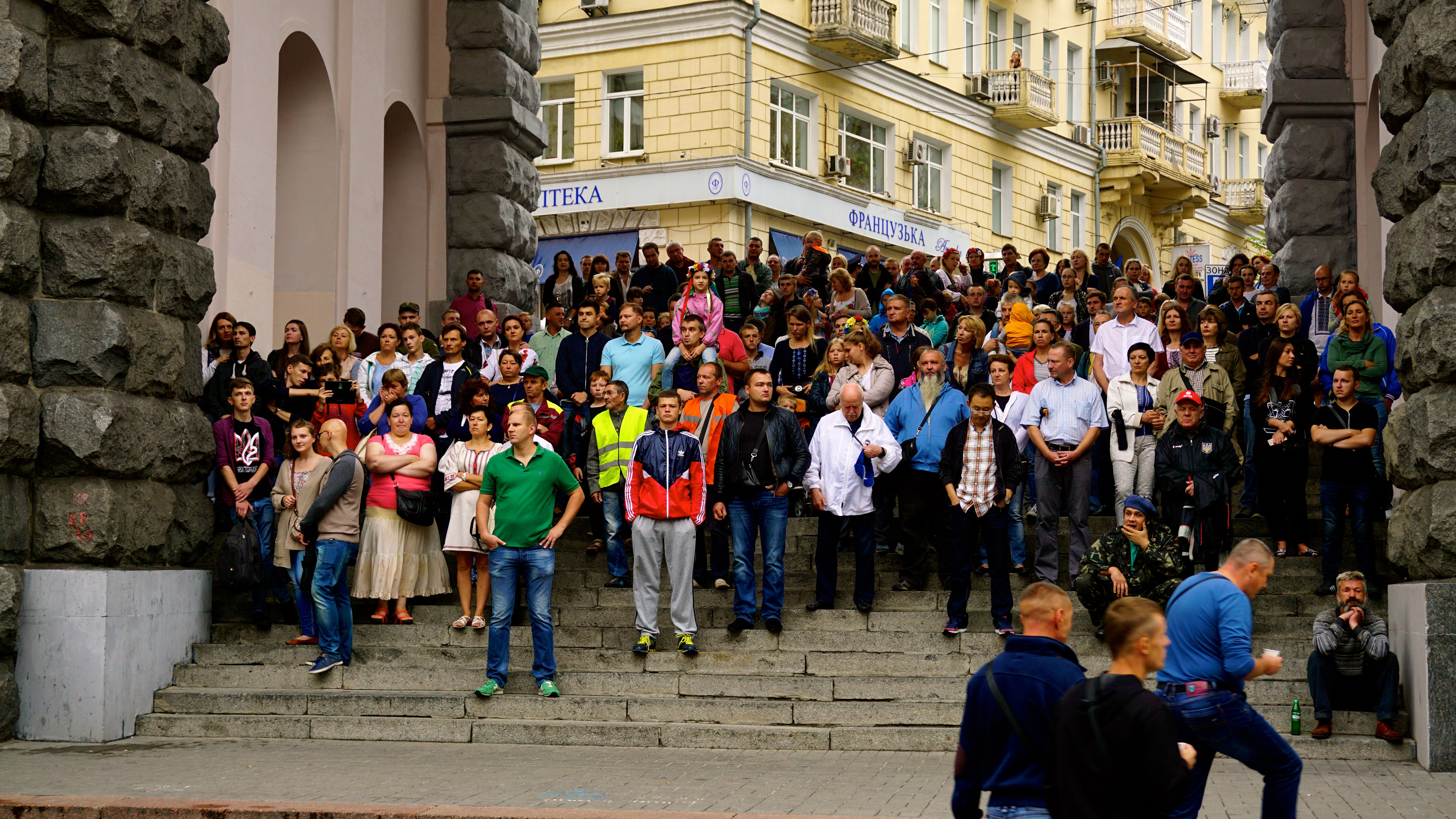 Ukrainian Independence Day celebrations in Kyiv on Aug. 24.
