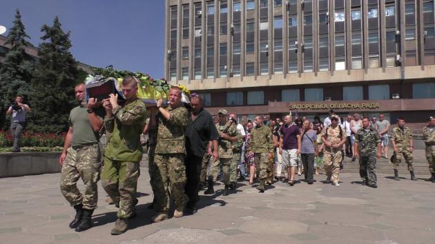 Daniel Kasyanenko's funeral in his hometown of Zaporizhia, Ukraine. (Photo courtesy IR)
