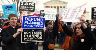 Pro-life marchers participate in the annual March for Life in Washington, D.C. (Photo: Leslie E. Kossoff/Polaris/Newscom)
