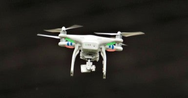 A personal surveillance drone. (Photo: Theodore Parisienne/Splash News/Newscom)