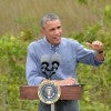 President Barack Obama speaks at Everglades National Park to call attention to climate change on Wednesday, April 22, 2015  (Michael Laughlin/Sun Sentinel/TNS/Newscom)