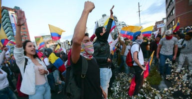 Ecuadorian socialist Lenín Moreno won a narrowly contested election on April 2, prompting demonstrations amid allegations of fraud. (Photo: Jose Jacome/EPA/Newscom)
