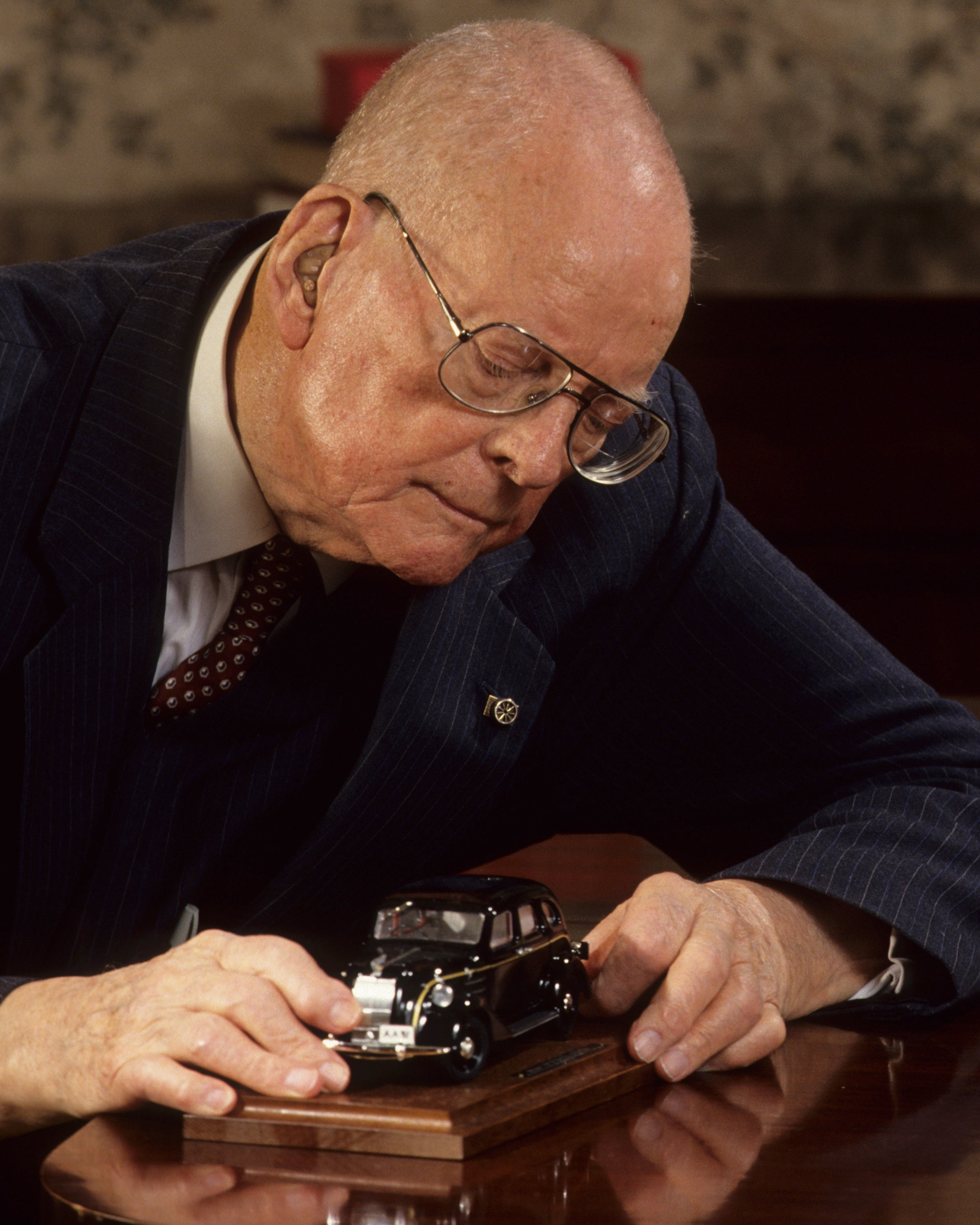 W. Edward Deming, leading advisor to Japanese auto makers. (Photo: Dennis Brack bb 29/Newscom)