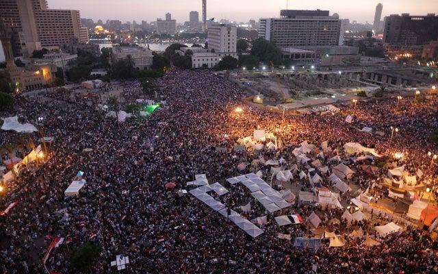 Egyptian anti-President Mohammed Morsi protesters (Xinhua/Sipa USA/Newscom)