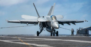 The sizes of the U.S. Navy, Army, and Air Force all currently stand at historic lows. (Photo: Castellano/U.S. Navy/SIPA /Newscom)