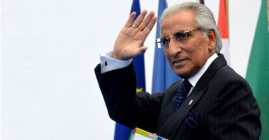 "Tariq Fatemi, Pakistan's special assistant to the prime minister on foreign affairs, has stressed that Pakistan should be considered ""a serious and credible partner"" of Washington. (Photo: Piero Oliosi /Polaris/Newscom)"