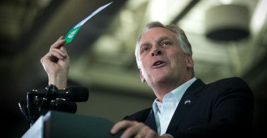 Virginia Gov. Terry McAuliffe, a Democrat, took executive action in April to restore voting rights to more than 200,000 ex-felons. (Photo: Pete Marovich/POOL/EPA/Newscom)