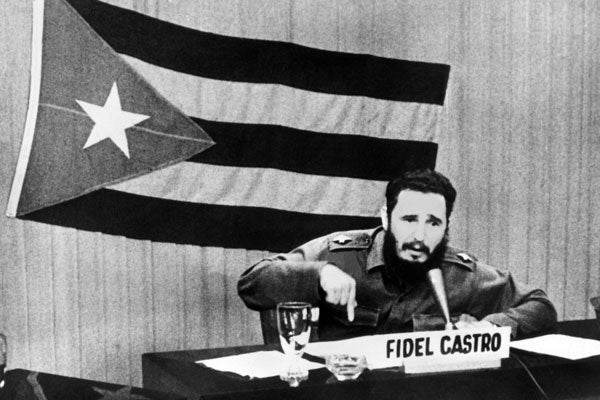 Fidel Castro during Cuban Missile Crisis