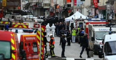 View of Rue de la Republique close to where the police raid occured earlier in Saint-Denis, France. (Photo: Wostok PRESS/MAXPPP/Newscom)