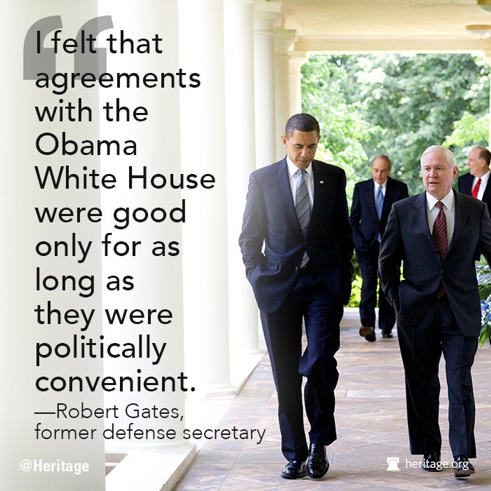 Robert Gates on Obama