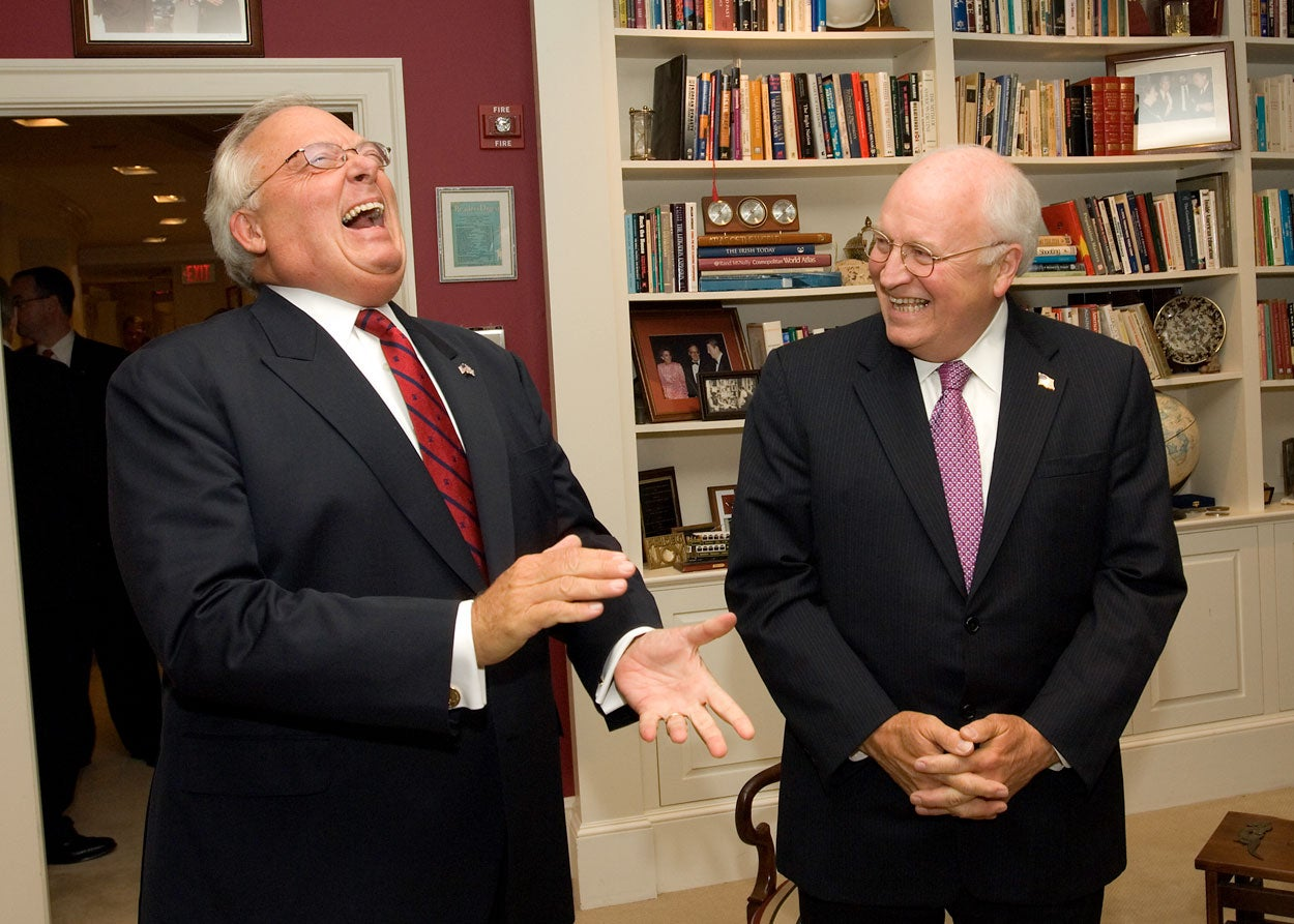 Ed Feulner with Vice President Dick Cheney in 2006. (Photo: Charles Geer for The Heritage Foundation)