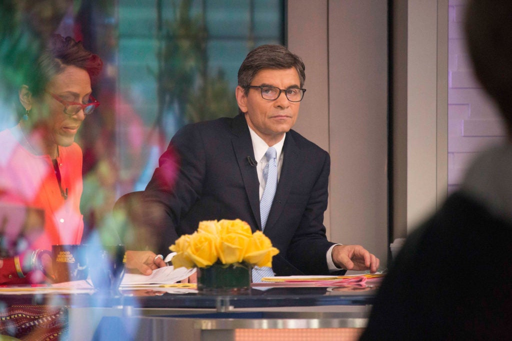 "George Stephanopoulos, co-host of ABC's ""Good Morning America,"" was a senior advisor to President Bill Clinton and"