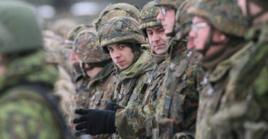 Germany plans to station close to 700 troops in Lithuania in 2017. (Photo: Olivier Hoslet /EPA/Newscom)