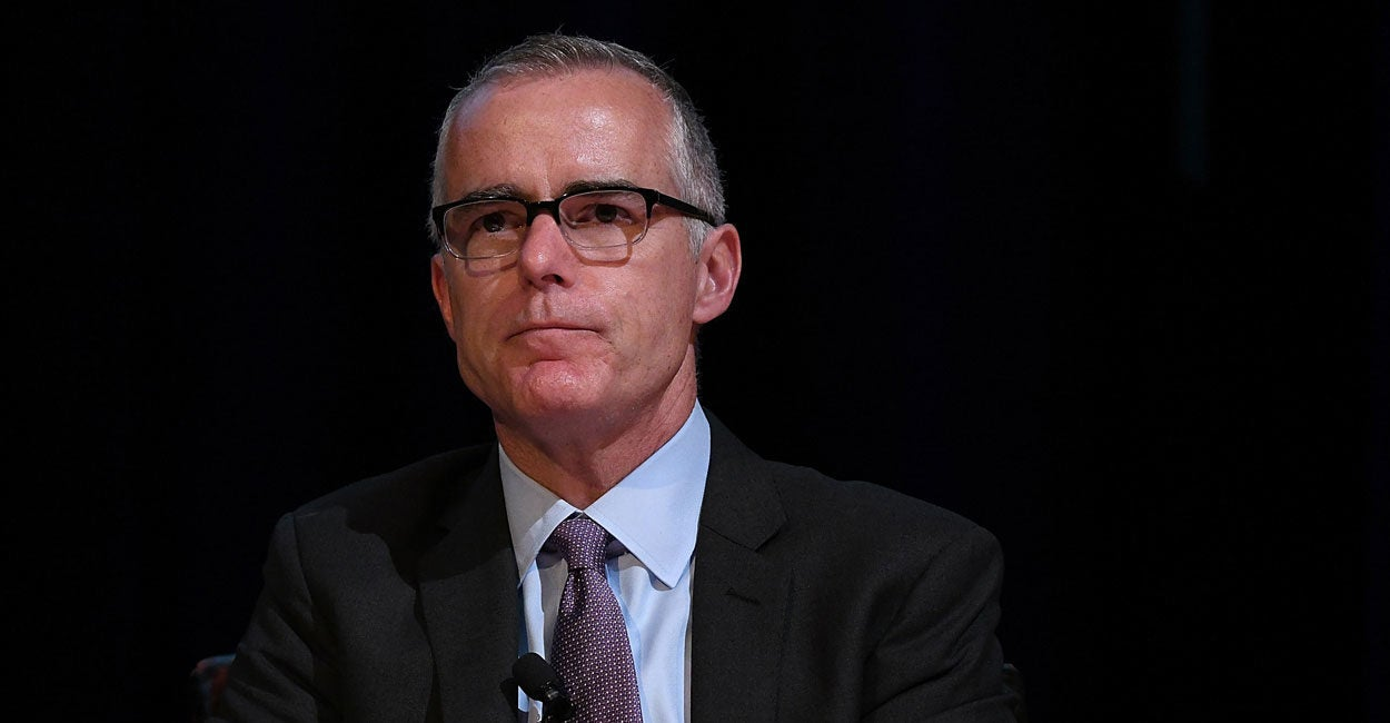 Andrew McCabe Says He Won't Take a Plea Deal 'Under Any Circumstances' If Indicted