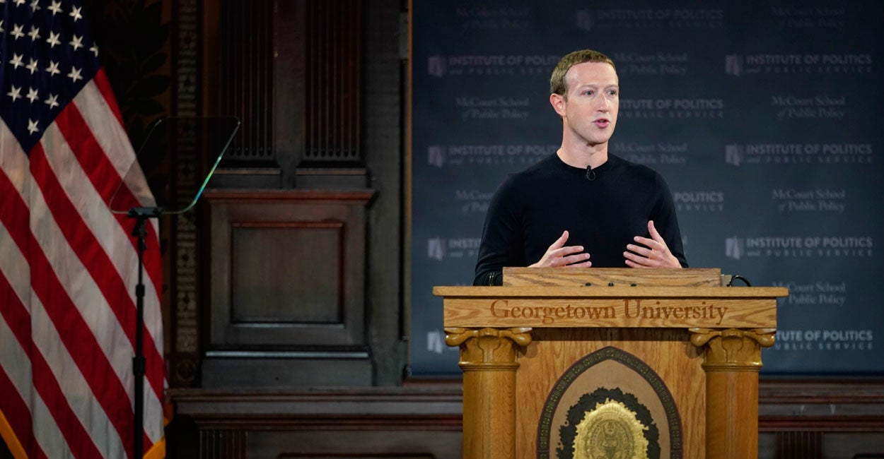 Mark Zuckerberg Leans on Free Speech While Defending Facebook's Ad Policies