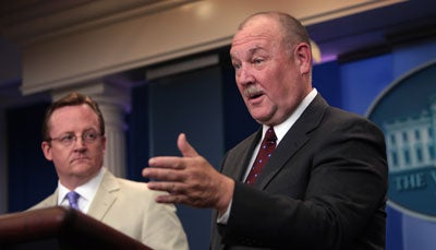 Robert Gibbs and Thad Allen