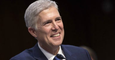 If he is conformed to the Supreme Court, Judge Neil Gorsuch says Mach 20  before the Senate Judiciary Committee, he will use the law as his standard to judge impartially. (Photo: Kevin Dietsch/UPI/Newscom)