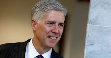 Judge Neil Gorsuch's confirmation hearings to replace the Supreme Court seat of Justice Antonin Scalia will begin on Monday. (Photo: Aaron P. Bernstein/Reuters/Newscom)