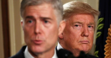 Unlike the judges at the 9th Circuit, Judge Neil Gorsuch had devoted his career to upholding rule of law under the Constitution. (Photo: Yin Bogu Xinhua News Agency/Newscom)