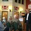 Sen. Lindsey Graham speaks at Music Man Square in Mason City, Iowa Wednesday night. (Photo: Leah Jessen/The Daily Signal)