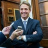 Sen. Jeff Flake, R-Ariz., is one of the authors of a new compromise bill to bar some terrorism suspects from buying firearms. (Photo: Tom Williams/CQ Roll Call/Newscom)