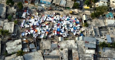 Impromptu tent cities that were set up throughout the Haitian capital after the 2010 earthquake. (Photo: United Nations Development Programme)