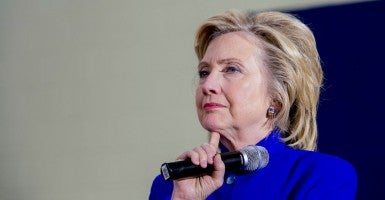 U.S. Democratic presidential candidate Hillary Clinton holds a campaign town hall meeting in Claremont, New Hampshire August 11, 2015. (Photo: Keiko Hiromi/Polaris/Newscom)