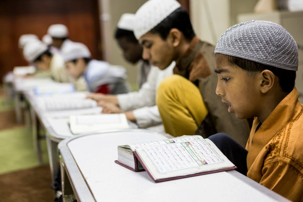 Children at Madrasah Islamiah mosque in Houston are taught to learn the Quran in its full context. (Photo: Scott Dalton)