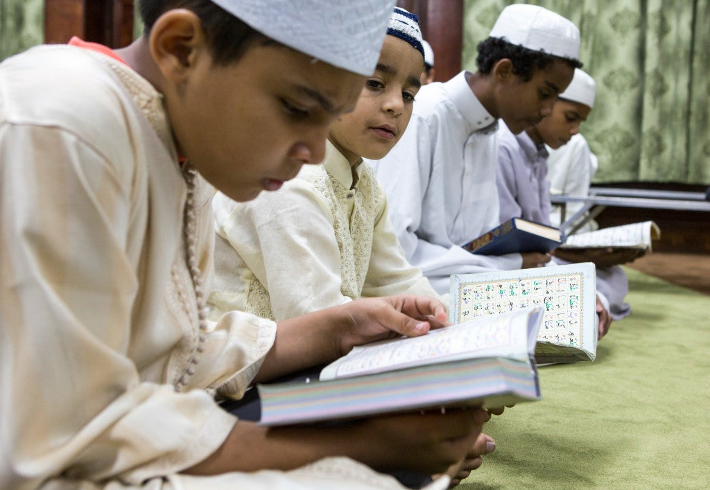 Muslim American families encourage open communication with their children about the Muslim faith. (Photo: Scott Dalton)