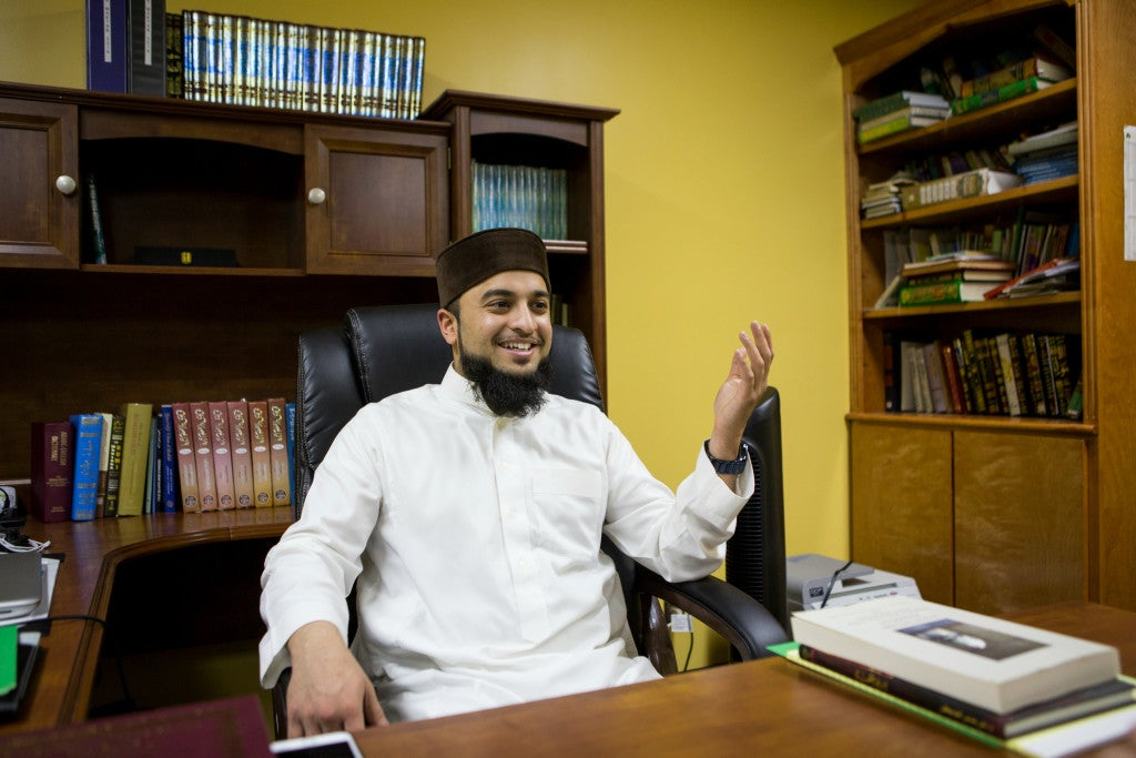 Mufti Mohammed Wasim Khan, a Muslim scholar and Houston resident, broadcasts his sermons over Youtube to make them accessible to the public. (Photo: Scott Dalton)
