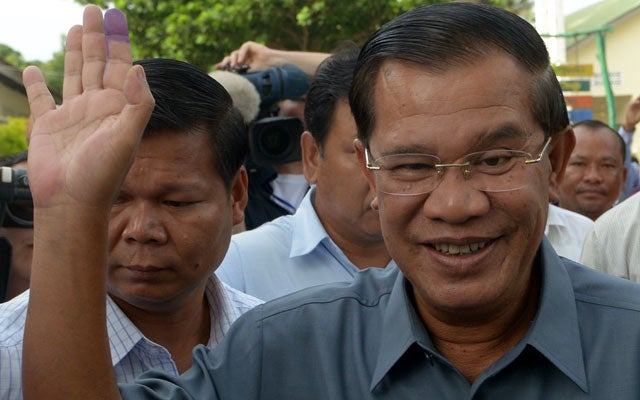 Cambodian Prime Minister Hun Sen (TANG CHHIN SOTHY/AFP/Getty Images/Newscom)